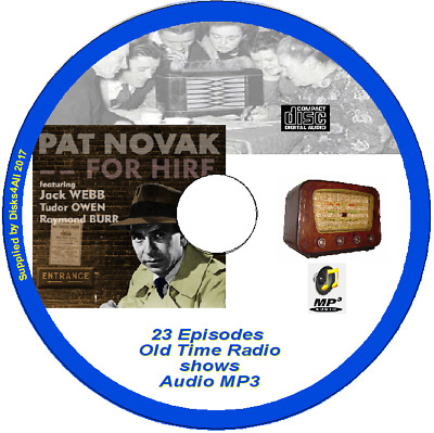 Pat Novak for Hire - 23  episodes Old Time Radio Shows  Audio MP3 CD