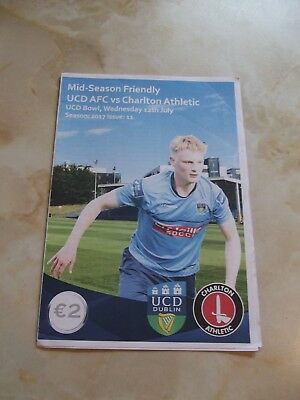 UCD AFC v CHARLTON ATHLETIC FRIENDLY GAME  2017