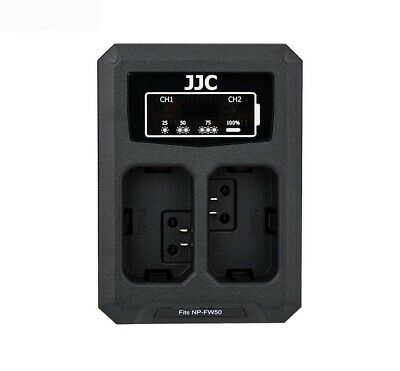 JJC USB Dual Battery Charger f Sony A7R A7II A7S A6500 A6000 A6300 RX10(NP-FW50)