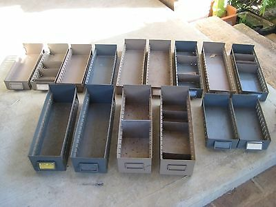 Industrial Metal Parts Drawers / 15 Drawers In Total