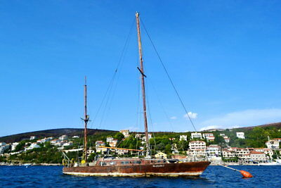Classic historical wooden yawl 13.65m, Opal 1973, made in Poland