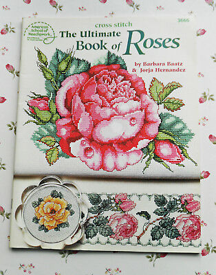 THE  ULTIMATE  BOOK of  ROSES ~1995 SC Cross Stitch Book  Produced By Rita Weiss
