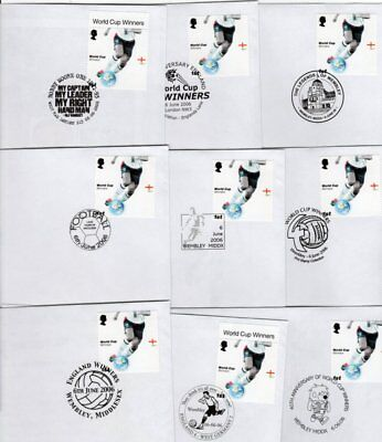 Football Soccer 1966 2006 England World Cup winners Set 17 commemorative cancels