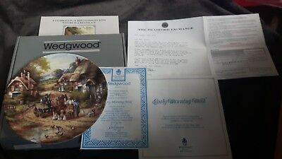 WEDGWOOD COUNTRY DAYS COLLECTORS EARLY MORNING MILK PLATE Certificate & box