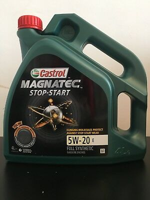 Castrol Magnatec Stop-Start 5W-20 E Fully Synthetic Engine Oil - 4 Litres