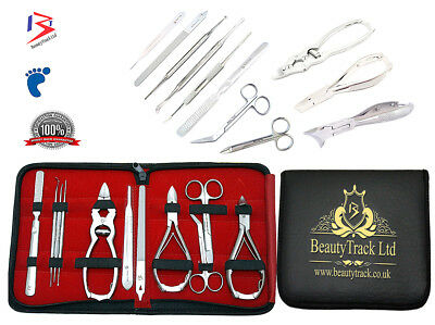 BeautyTarck Toe nail Clippers Cutter Nippers -11Pc Kit  Handmade Tools Foot Care