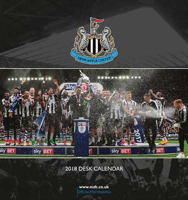 Newcastle United Football Club Official 2018 Desk Easel Calendar Calender NUFC