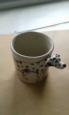 blue witch pottery vase dalmation perfect cond