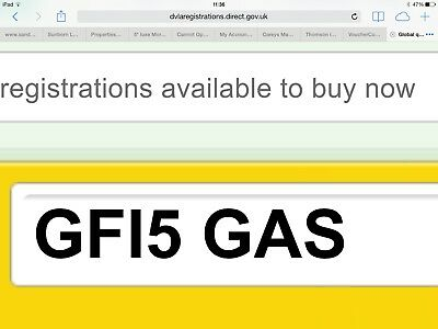 gas / plumber number plate