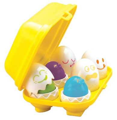 Tomy Play to Learn Hide n Squeak Eggs Baby Toddler Interactive Toy