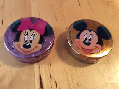 New 2 Tins Fruit Candy Disney Theme Parks WDW Mickey Minnie Mouse Reusable