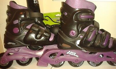 No Fear roller blades inline skates 5-8 AND full protection bundle XL