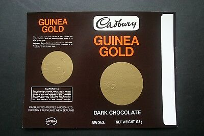 GUINEA GOLD 135g - 1970's CADBURY NEW ZEALAND Chocolate Candy Bar Wrapper