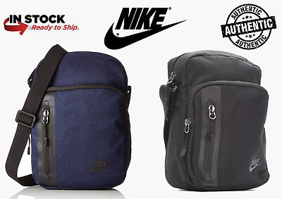 cac64b4d85 Nike Core Small Items 3.0 Messenger Tech Shoulder Bag Black Men Women BA5268