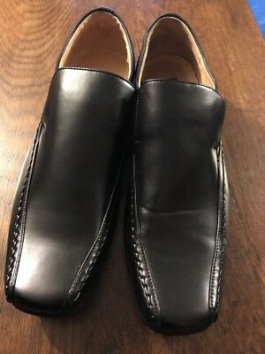 GOOR Men's Black Leather Slip On Shoes Size 11 Excellent Condition Hardly Worn
