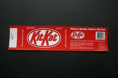KIT KAT 45g - 1980's ROWNTREE AUSTRALIA Chocolate Candy Bar Wrapper