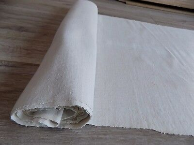 Antique homespun Flax Very Thin Fabric Canvas 6x0,48m 1920s Great condition