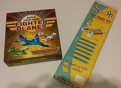 """Fighter Paper Planes & Mouse-Trap Model Vehicle Kits """"new Without Tags"""""""