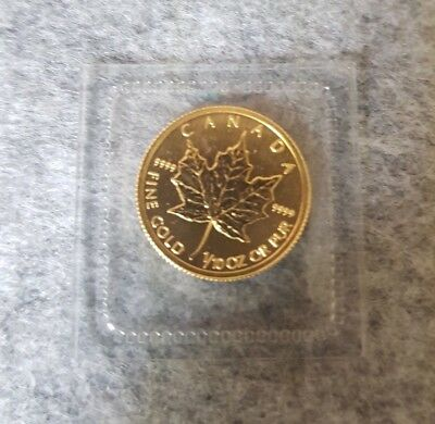Pièce or 5 dollars Canada Maple Leaf 1/10 d'once d'or 1/10 oz  2011 sous scellé