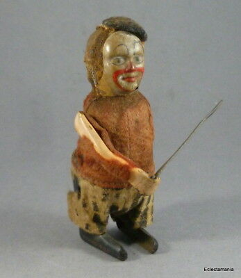 Vintage SCHUCO Wind-Up Clockwork CLOWN - Violinist - For Spares or Repair