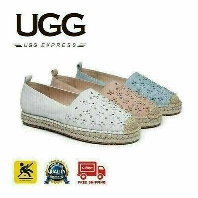 UGG Starry Ladies Rivet Star Flats Loafers Casual Slip-on Shoes, Low-Top Canvas
