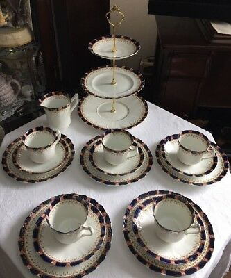 Lovely Vintage SUTHERLAND CHINA Tea Set & 3 Tier Cake Stand New Price