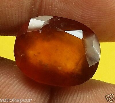 10.44 CT HESSONITE 100% Natural GIE Certified Beautiful Quality INDIAN Gemstone