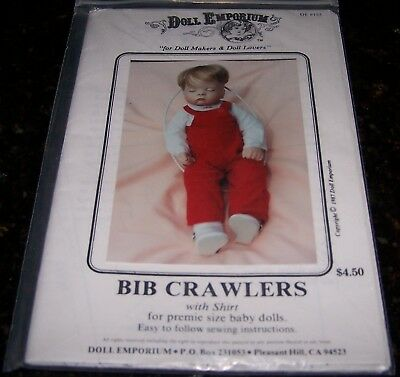 Usa Pattern For Dolls Overalls And Shirt - New In Packaging