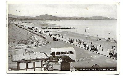 COLWYN BAY.  Postcard (RP)  posted 1955