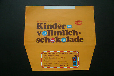KINDER VOLLMILCH - 1970's TSW GERMANY Chocolate Candy Bar Wrapper