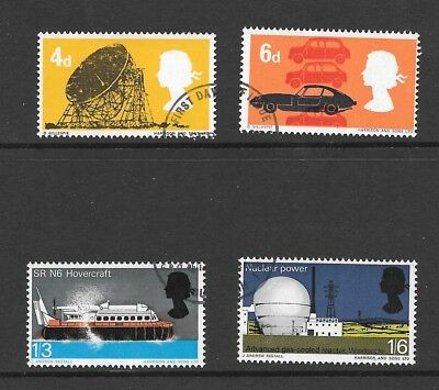1966 British Technology Stamp Set Very Fine Used
