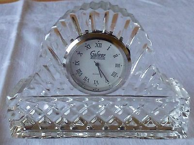 Beautiful Galway Irish Crystal Clock, Great Working Condition.
