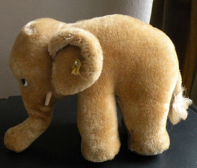 Vintage Steiff Mohair Elephant - Button But Sadly Only One Eye