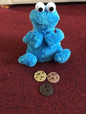Seasame Street Count Crunch Cookie Monster Interactive Toy With 3 Cookies Unisex