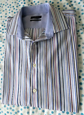 """St George by Duffer.Multi colour slim fit long sleeve shirt.(18½"""" collar.. )."""