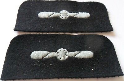 Pair of RAF Embroidered LAC Arm Badges, Rounded Top