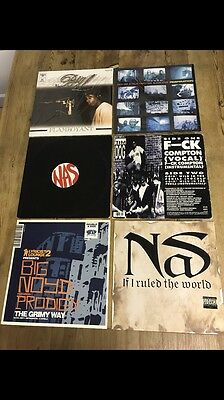 "Hip Hop Vinyl Collection (6 X 12"" Singles) Includes BIG L, NAS, PRODIGY, MOS DEF"