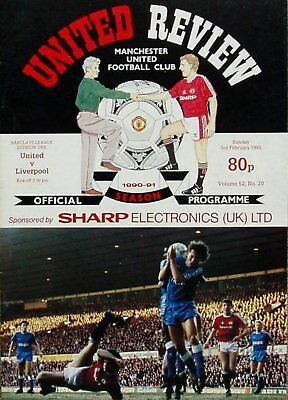 MANCHESTER UNITED v LIVERPOOL League Division 1 1990/91