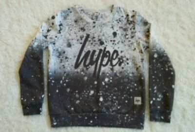 Hype kids sweatshirt grey & white splatter. age 11-12 years vgc