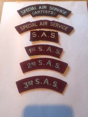selection of SAS cloth badges