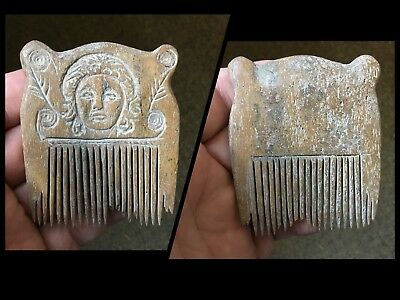 Rare Stunning Viking Twin Dove Bird Carved Hair Comb C9th !11th Cent AD.