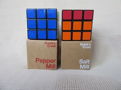 Rubik's Cube Salt And Pepper Mills New In Boxes