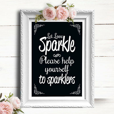 Chalkboard Effect Sparklers Send Off • Personalised Wedding Sign