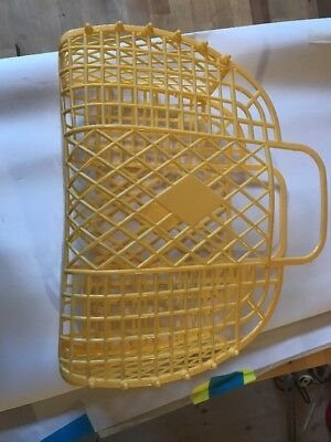Sunjellies Jelly Rubber Plastic Bag Basket. 70s Retro Style. Never Used