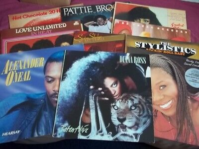 JOBLOT  OF 50 -- SOUL/FUNK/DISCO  LP's --IN CASE -- ALL PHOTOGRAPHED .