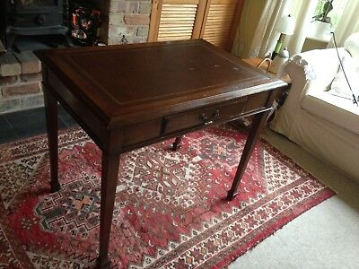 Antique leather top writing desk - table