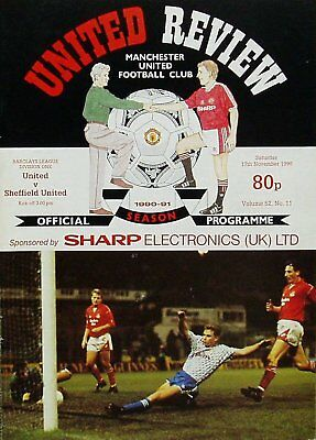 MANCHESTER UNITED v SHEFFIELD UNITED League Division 1 1990/91