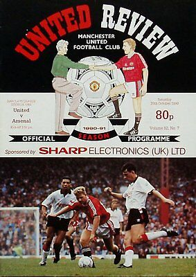 MANCHESTER UNITED v ARSENAL League Division 1 1990/91