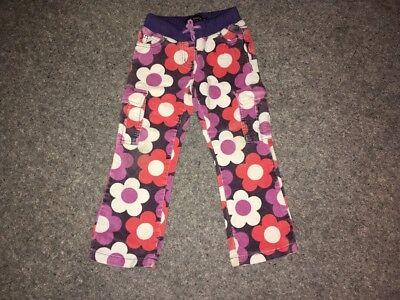 Mini Boden Girl's Flower Combat Cord Trousers 5 Years
