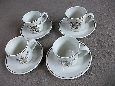 Royal Doulton Lambethware-Wild Cherry Design-4 Cups & Saucers-Unused In Exc Cond